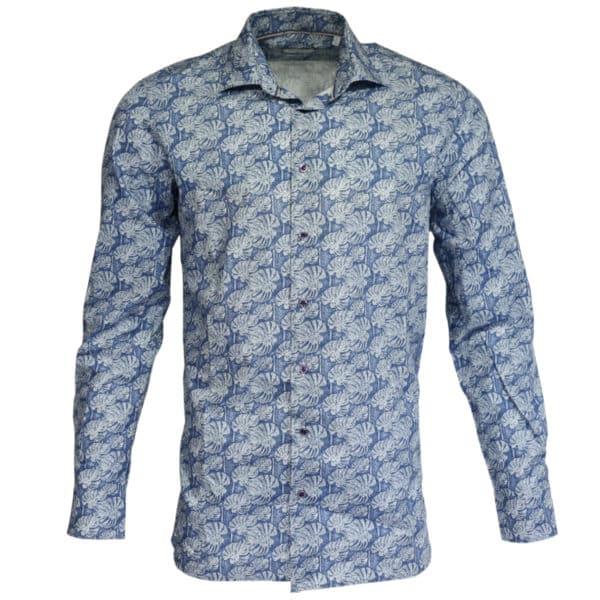 Giordano linen palm tree summer shirt