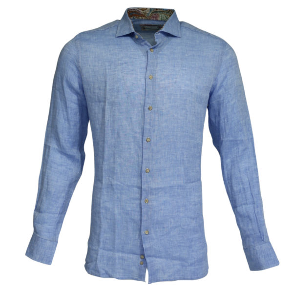 Giordano linen shirt blue