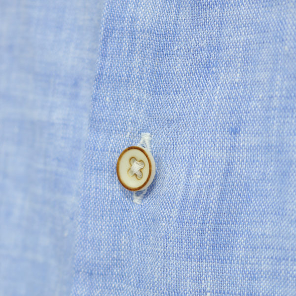 Giordano linen shirt blue fabric