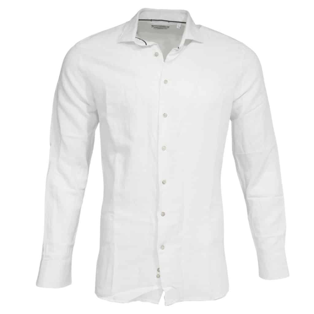 Giordano linen shirt white
