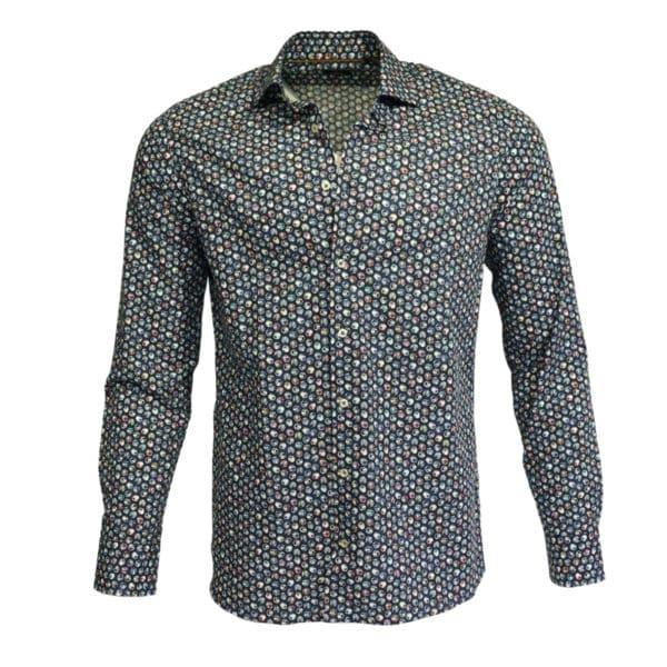 Giordano shirt navy cirlce bird front