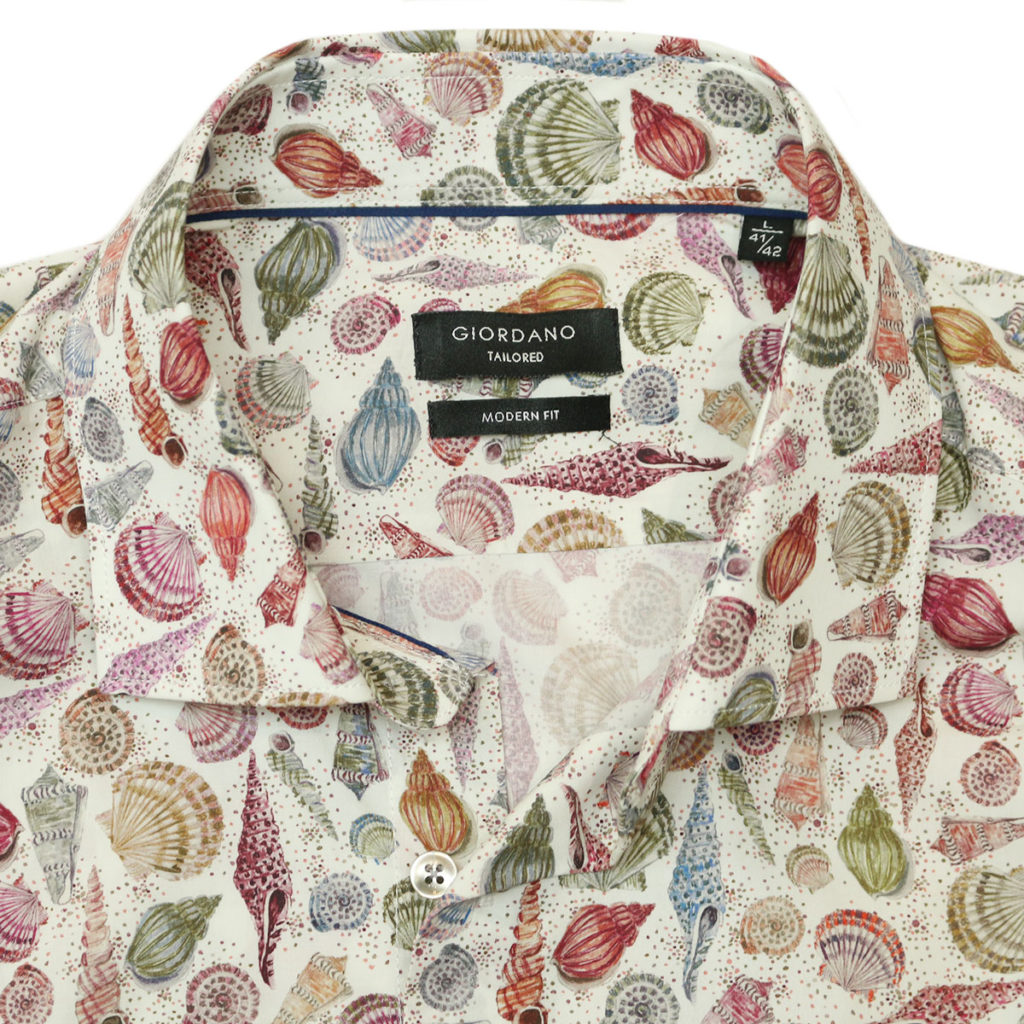 Giordano shirt sea shell off white collar Copy
