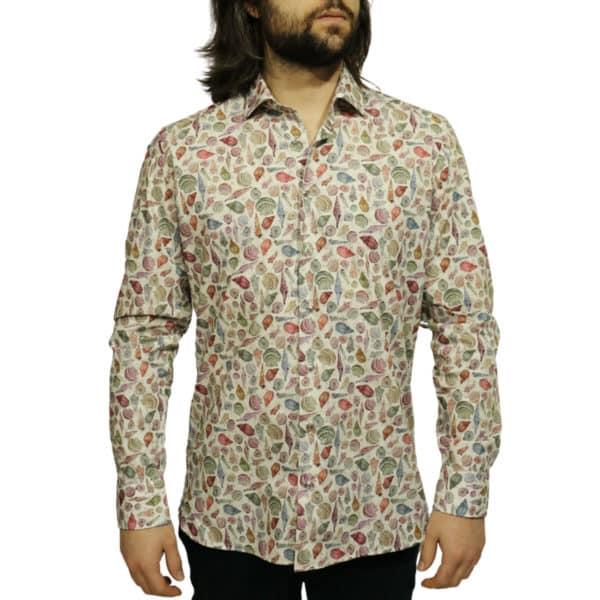Giordano shirt sea shell off white2