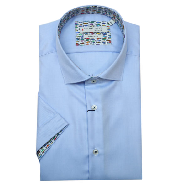 Giordano short sleeve blue shirt