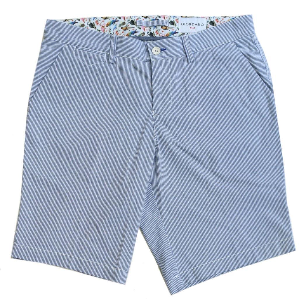 Giordano striped blue shorts