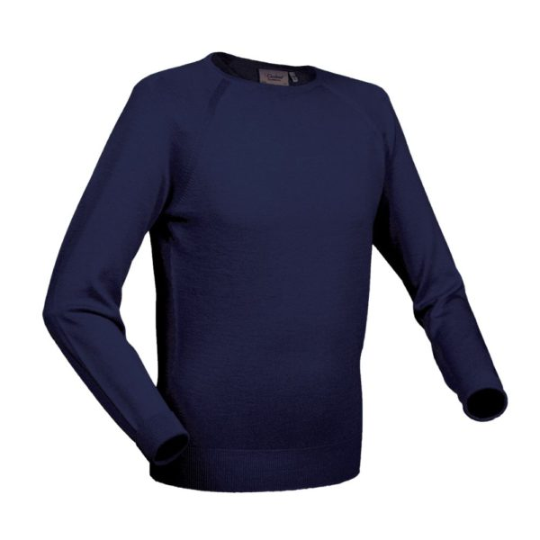 Glenbrae Crewneck Sweater Azure Blue 1