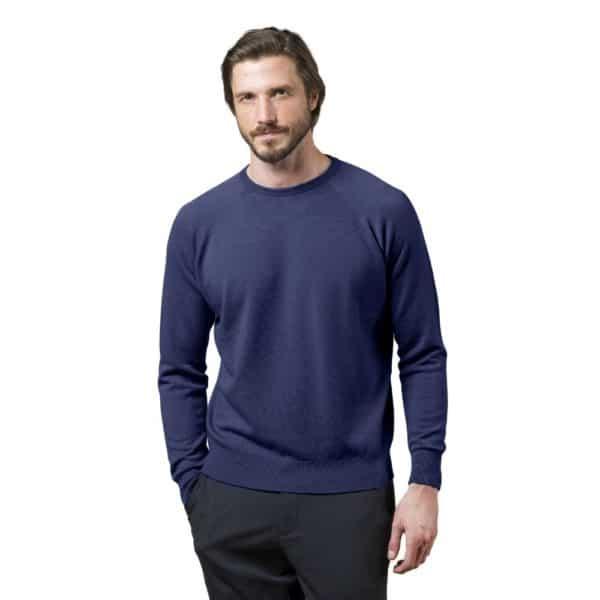 Glenbrae Crewneck Sweater Azure Blue 2