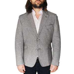 HOLLAND ESQUIRE PUPPYTOOTH JACKET GREY front