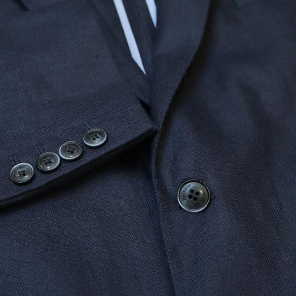 Hackett Blazer jacket denim look button detail