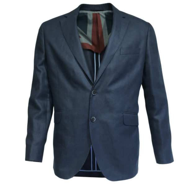 Hackett Blazer jacket denim look front