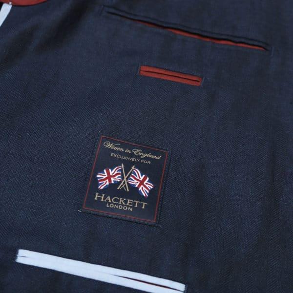 Hackett Blazer jacket denim look lining