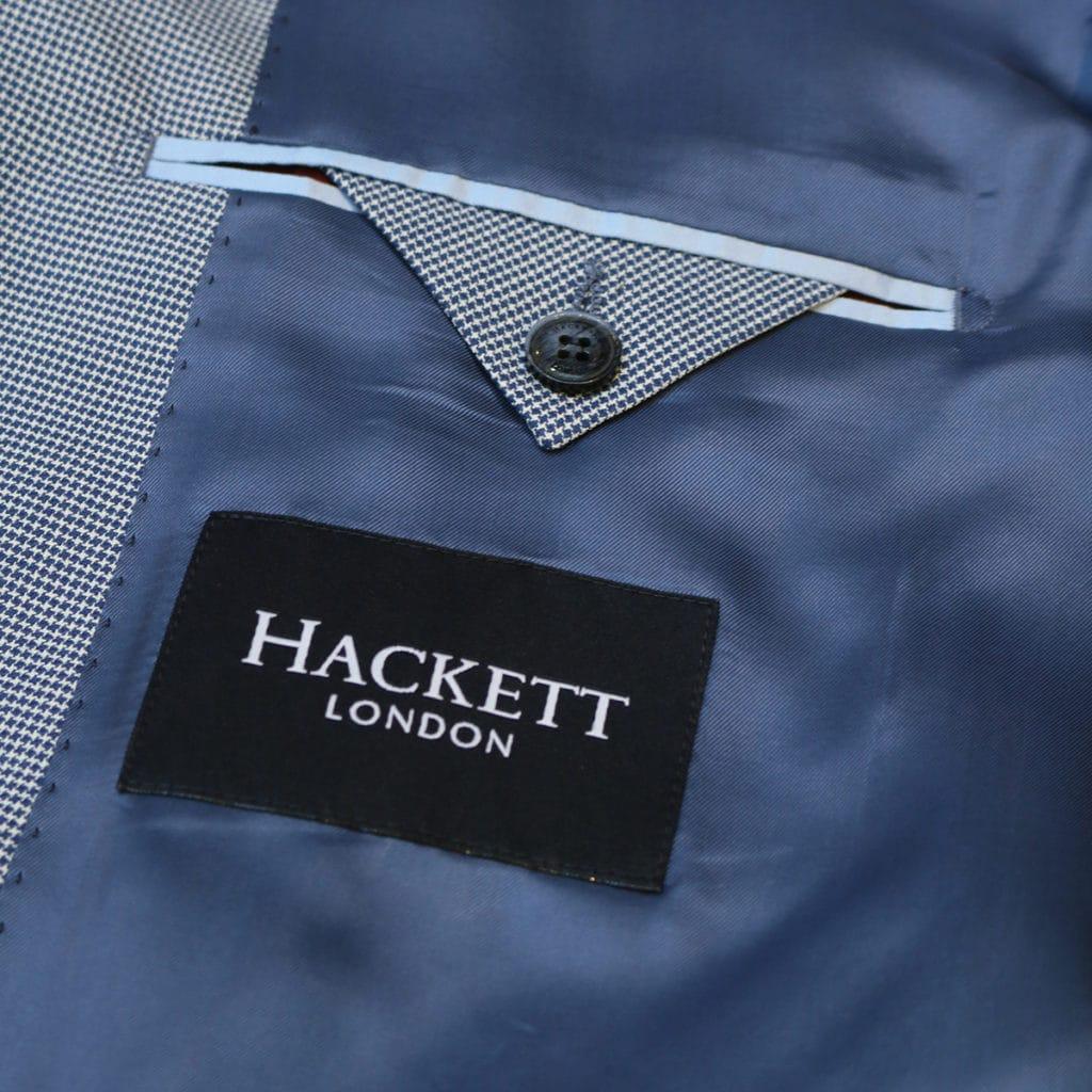 Hackett Blazer jacket houndtooh navy lining