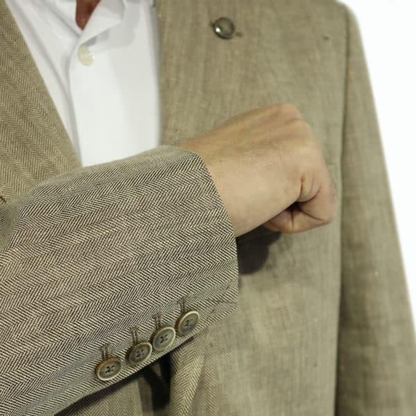 Hackett Blazer jacket sand button detail