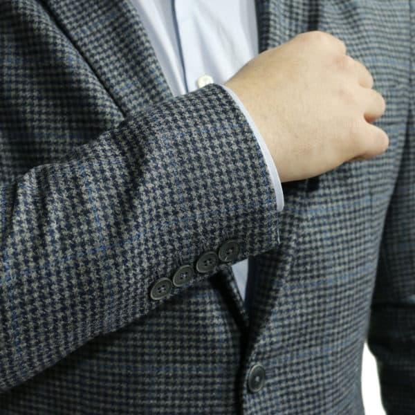 Hackett big check blazer jacket navy button details