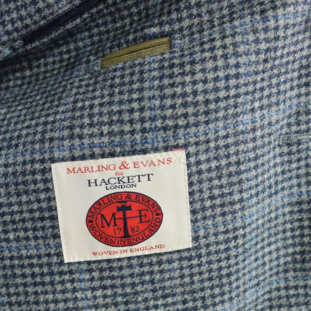 Hackett big check blazer jacket navy lining
