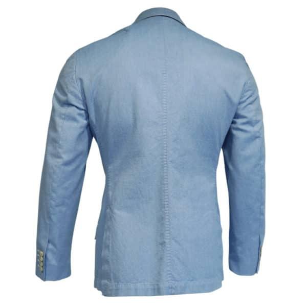 Hackett blazer jacket denim look light blue back