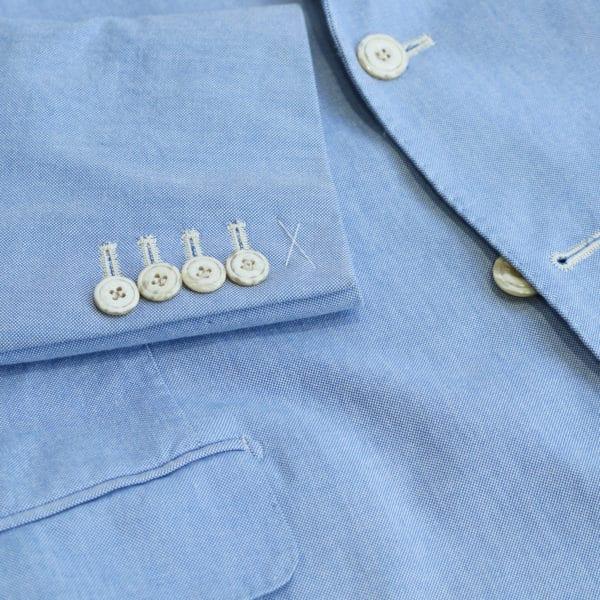 Hackett blazer jacket denim look light blue button detail
