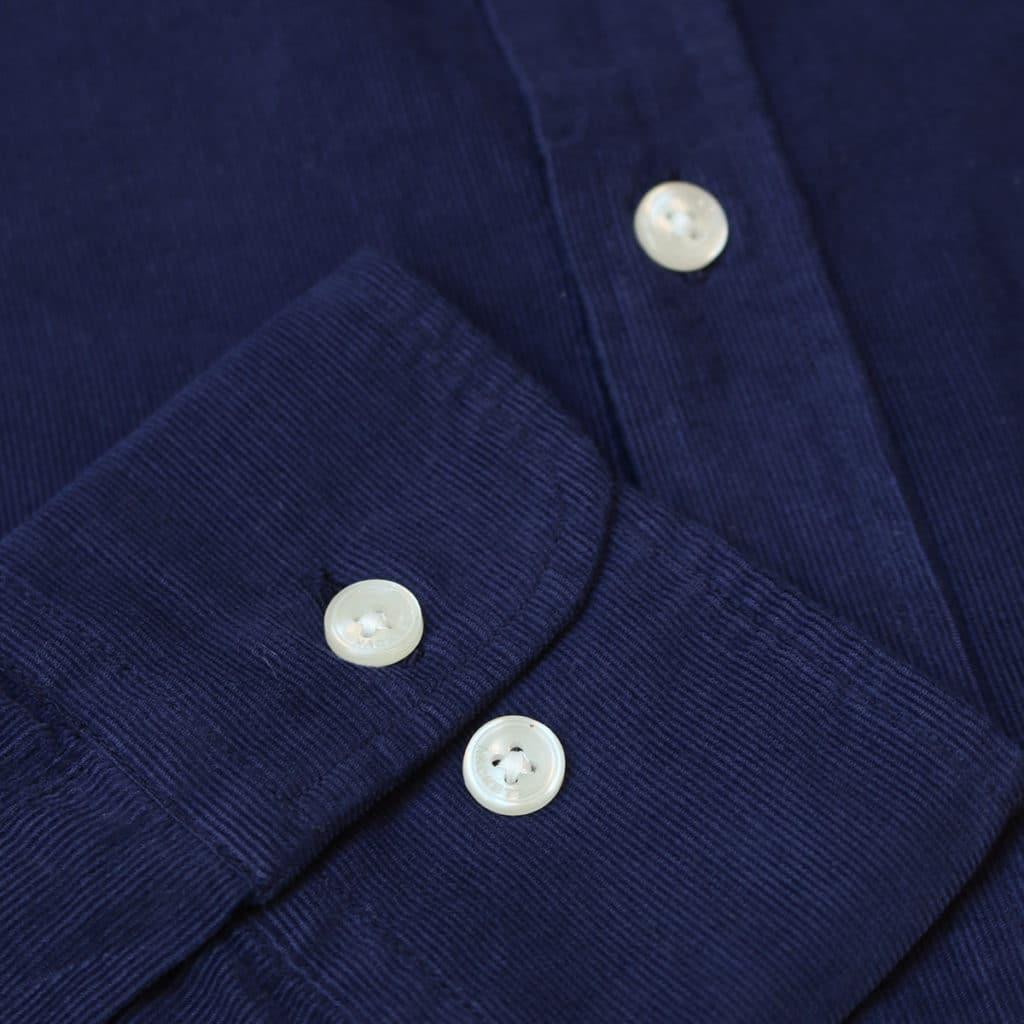 Hackett corduroy shirt navy cuff detail