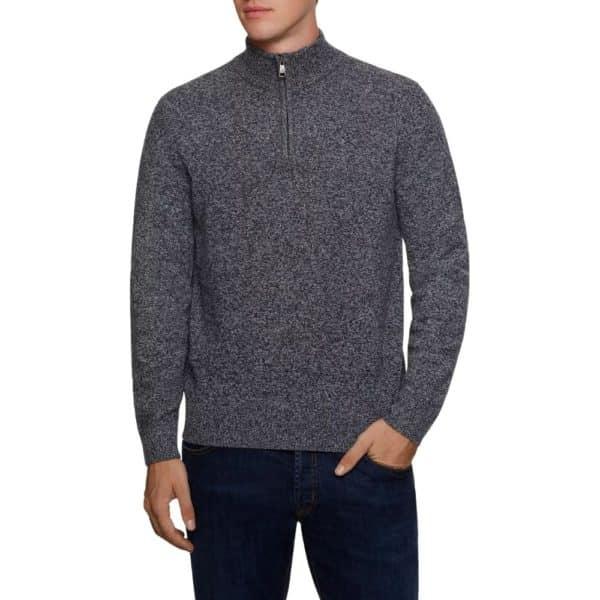 Hackett half zip mouline sweater 3