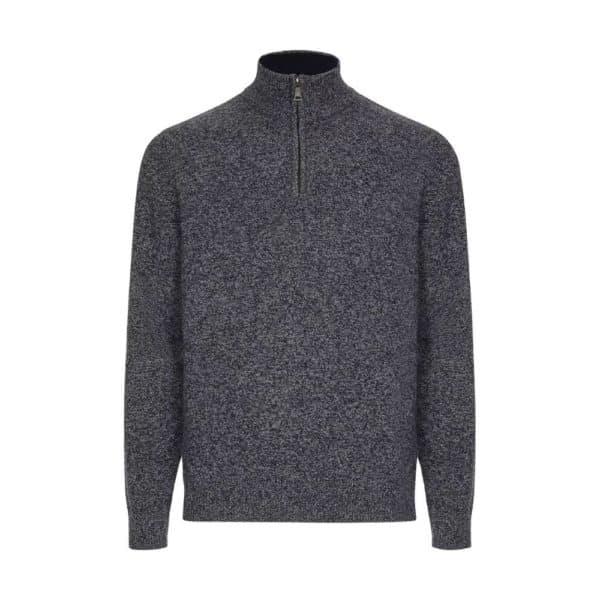 Hackett half zip mouline sweater