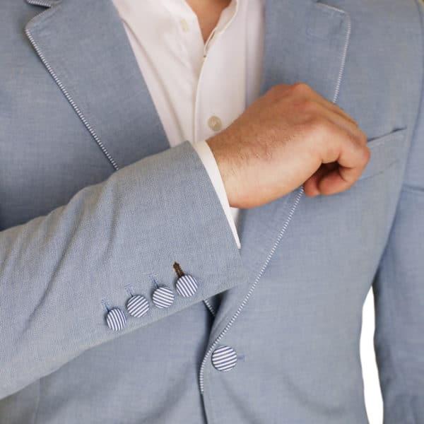 Holland Esquire light blue jacket detail