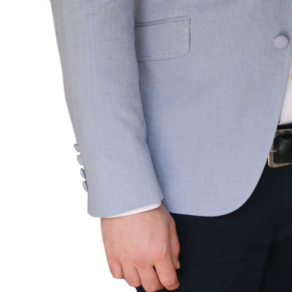 Holland Esquire light blue jacket detail2
