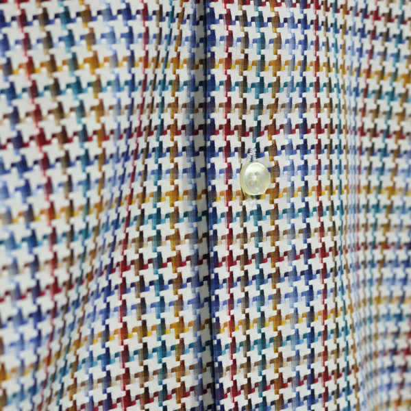 Houdstooth shirt fabric