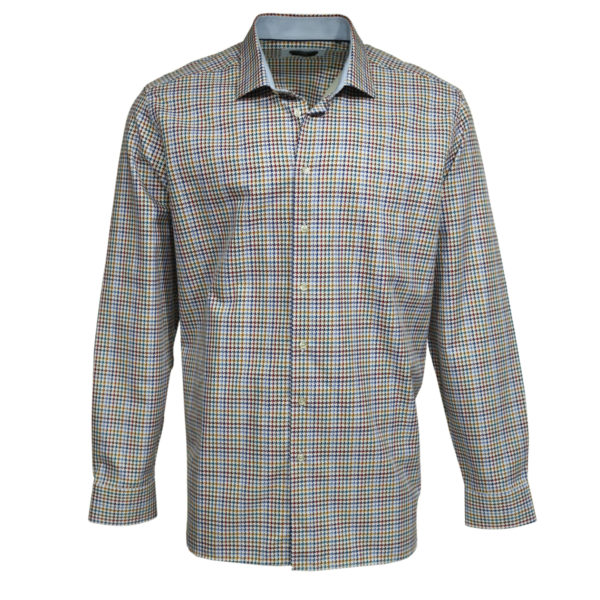 Houdstooth shirt front