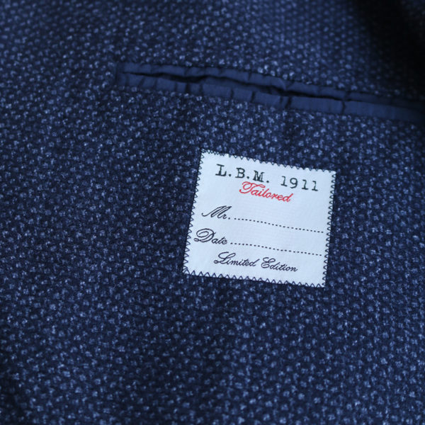 LBM jacket navy lining detail