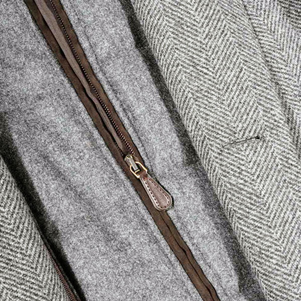Lubiam Herringbone Overcoat With Insert zip insert