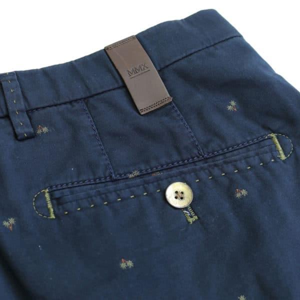 MMX palm shorts navy back pocket detail