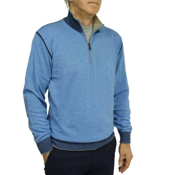 Massimo Boni half zip Blue 1