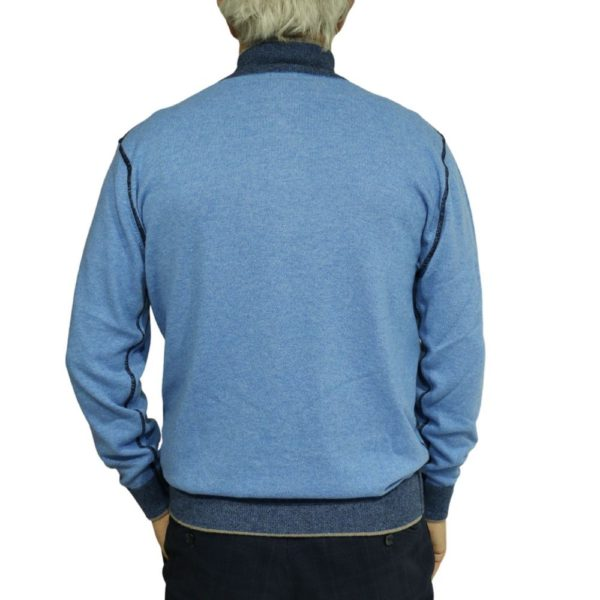 Massimo Boni half zip Blue 2