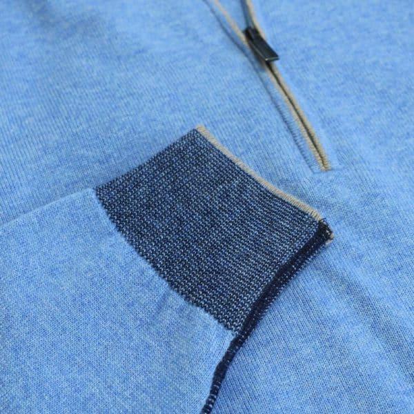 Massimo Boni half zip Blue 3