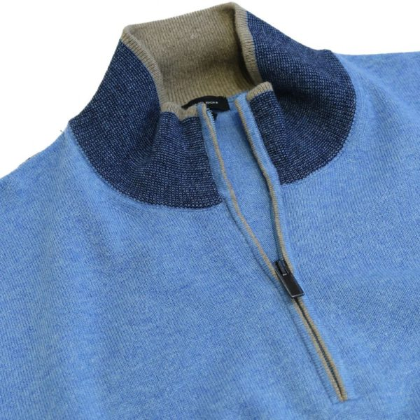 Massimo Boni half zip Blue 4