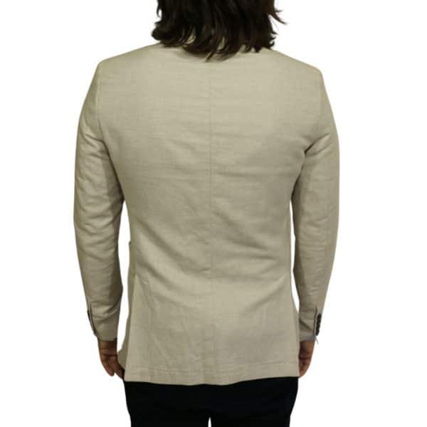 Maxim B blazer jacket beige back