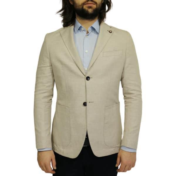 Maxim B blazer jacket beige front