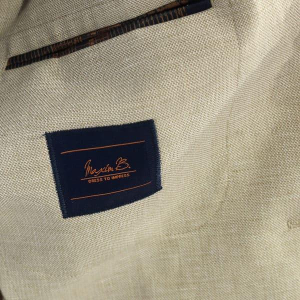Maxim B blazer jacket beige lining