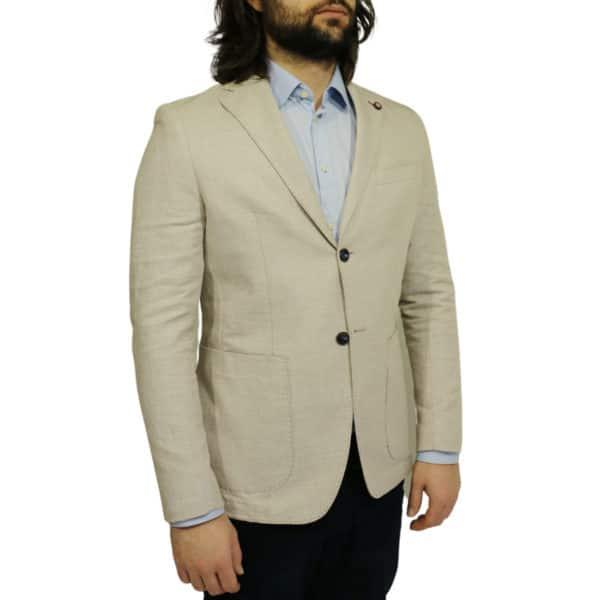 Maxim B blazer jacket beige side