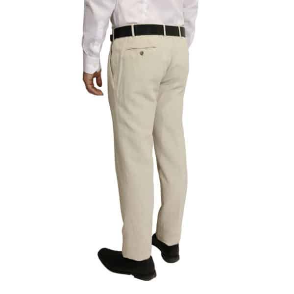 Meyer trouser linen sand back
