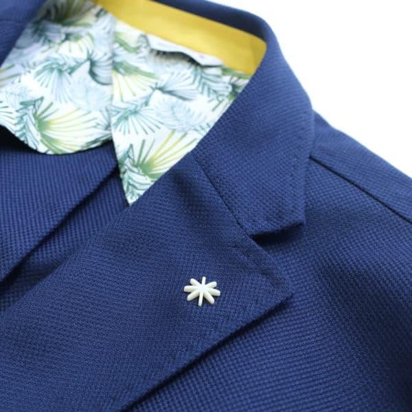 Muriel Ritz jacket navy detail collar