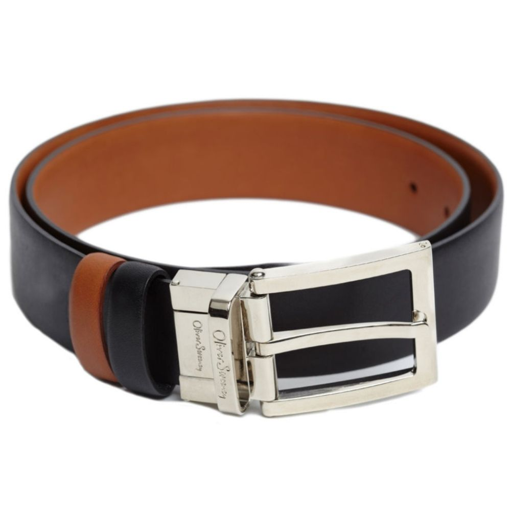 Oliver Sweeney Malmsey Leather Reversible Belt Black Tan 1