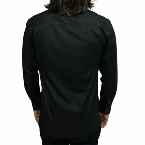 Oscar of Sweden shirt flower collar black back Copy