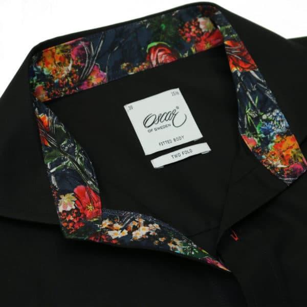 Oscar of Sweden shirt flower collar black collar 1