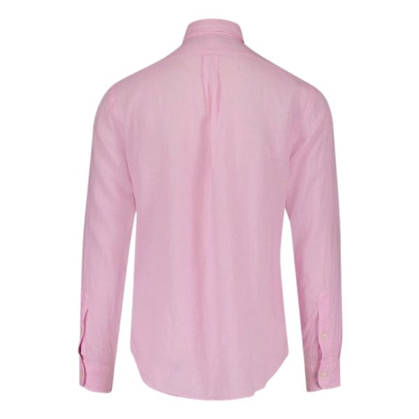 POLO RALPH LAUREN CUSTOM FIT LINEN Shirt Pink SHIRT1
