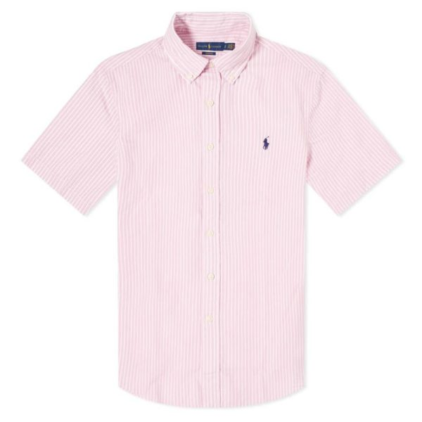 POLO RALPH LAUREN CUSTOM FIT STRIPED SEERSUCKER SHIRT