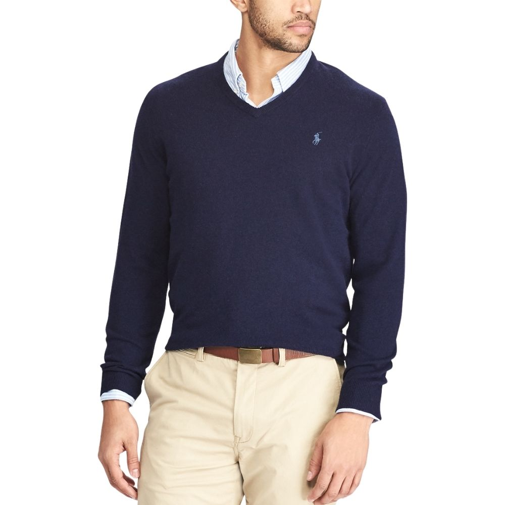 POLO RALPH LAUREN Cotton and Cashmere Blue jumper 2