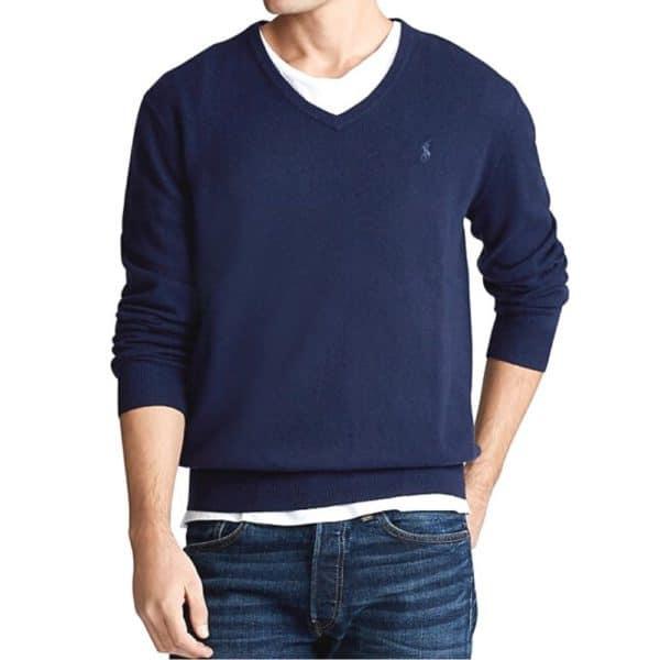 POLO RALPH LAUREN Cotton and Cashmere Blue jumper