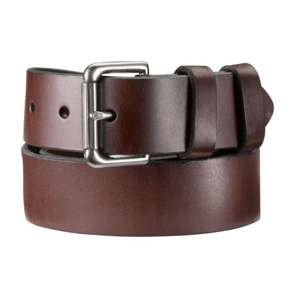 POLO RALPH LAUREN LEATHER ROLLER BUCKLE BROWN BELT