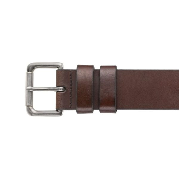 POLO RALPH LAUREN LEATHER ROLLER BUCKLE BROWN BELT1